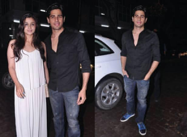 Alia Bhatt And Sidharth Malhotra Posed For Camera During The Birthday Bash Of Arjun Kapoor