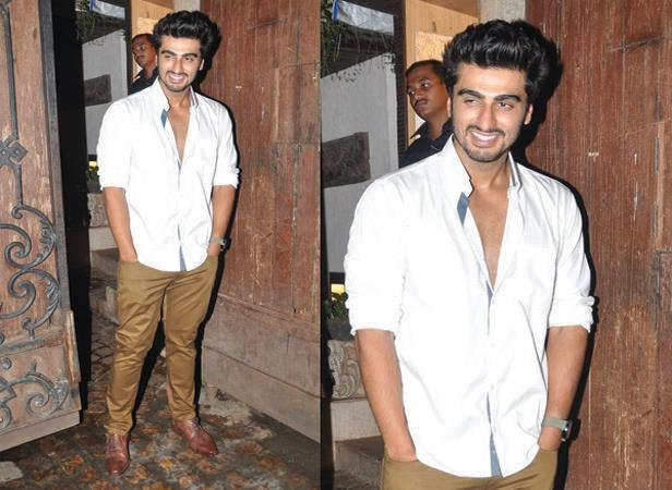 Arjun Kapoor Smiling Pose For Camera At His 28th Birthday Bash