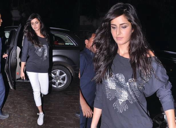 Katrina Kaif Glamour Look At Arjun Kapoor Birthday Bash