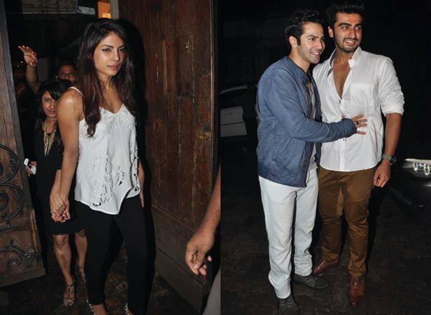 Priyanka,Varun And Arjun Snapped At Arjun Kapoor Birthday Bash