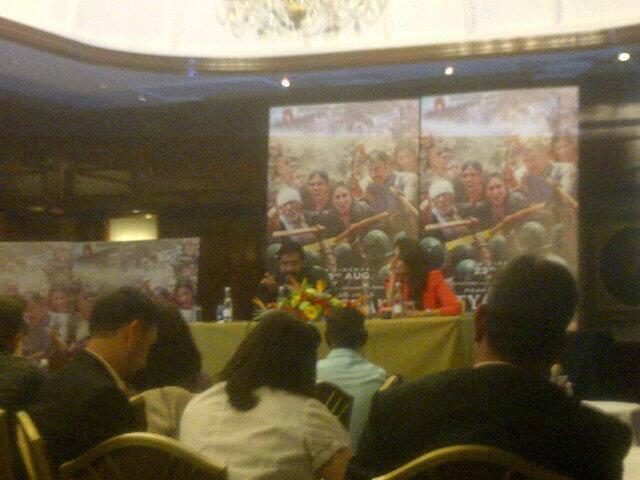 Kareena And Ajay Launches Satyagraha Trailer At The Taj Hotel In London