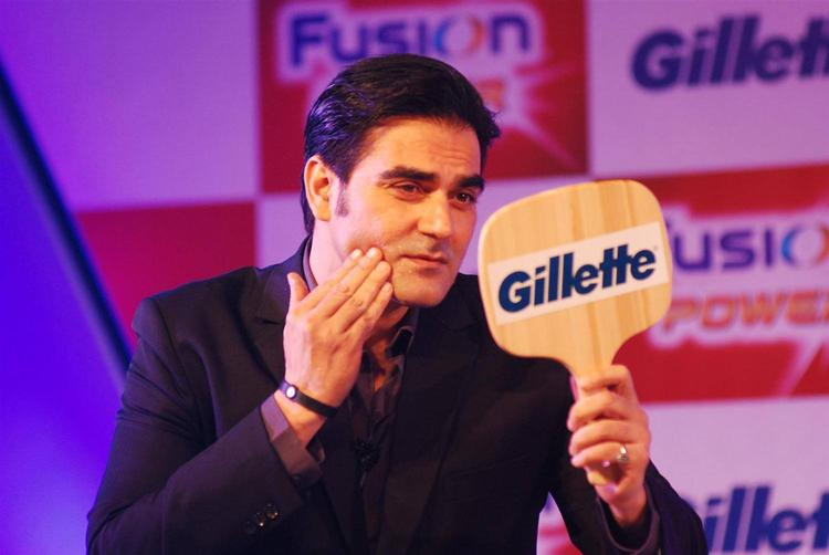 Arbaaz Khan Use Cream At The Launch Of Gillette Fusion Power Event
