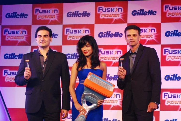 Arbaaz,Chitrangada And Former Indian Cricketer Rahul Launched Gillette Fusion Power