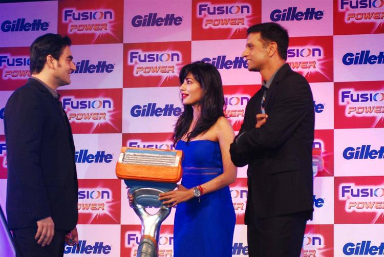 Arbaaz,Chitrangada And Rahul Attended The Gilette Fusion Power Launching Event