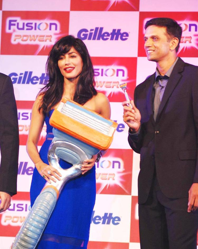 Chitrangada And Rahul Nice Dazzling Look At Gillette Fusion Power Launching Event