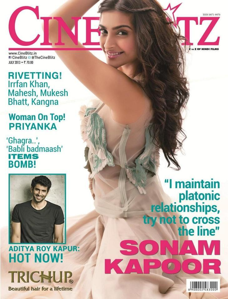 Sonam Kapoor  On The Cover Page Of Cineblitz