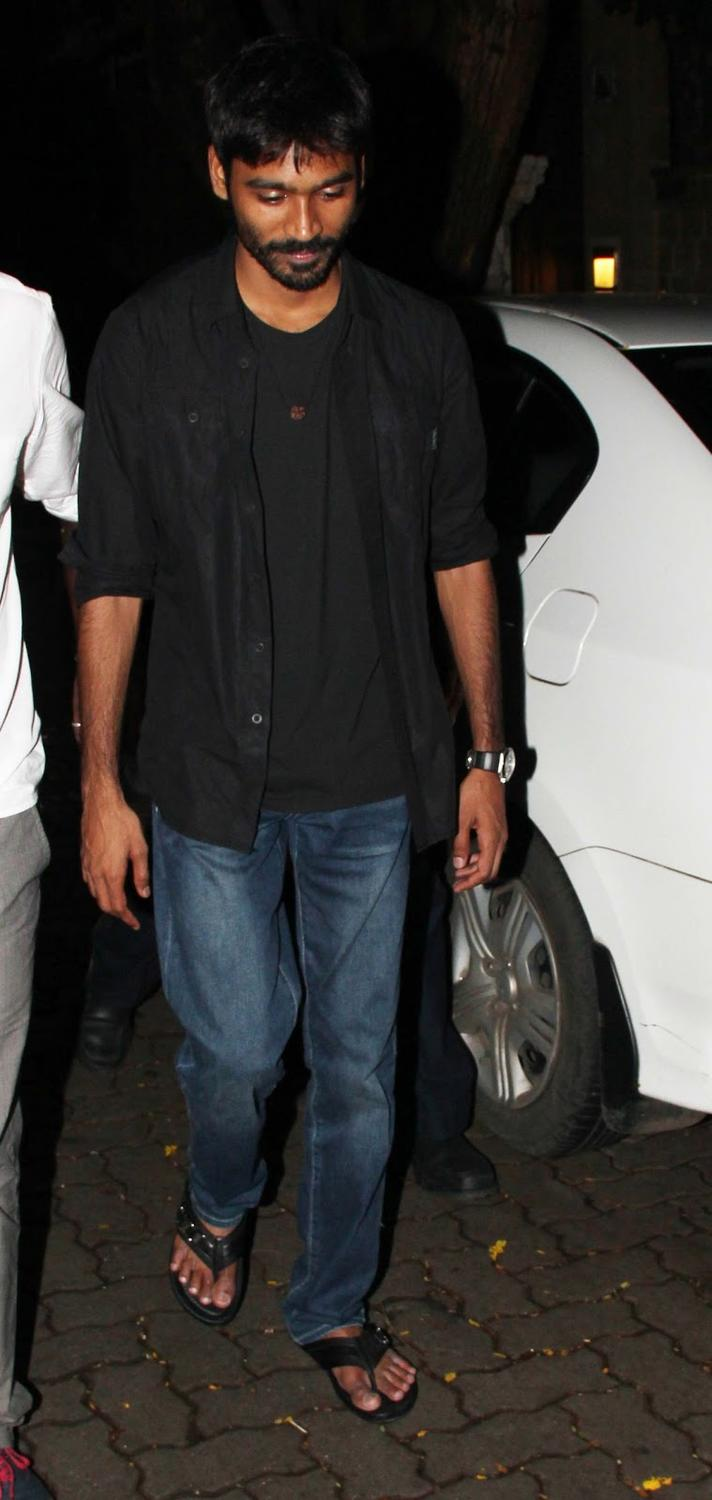 Dhanush Spotted At The Arjun Kapoor's Birthday Bash