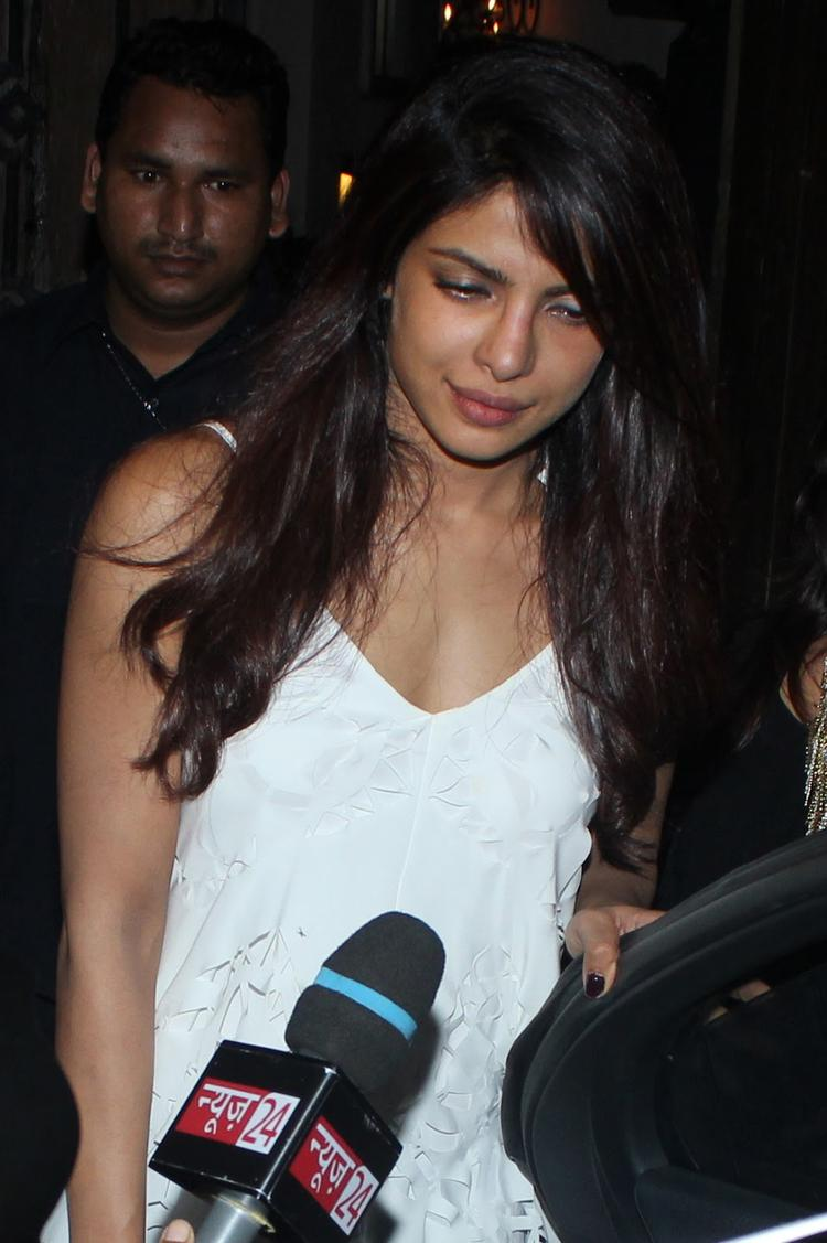 Priyanka Chopra Media Still At Arjun Kapoor's Birthday Bash