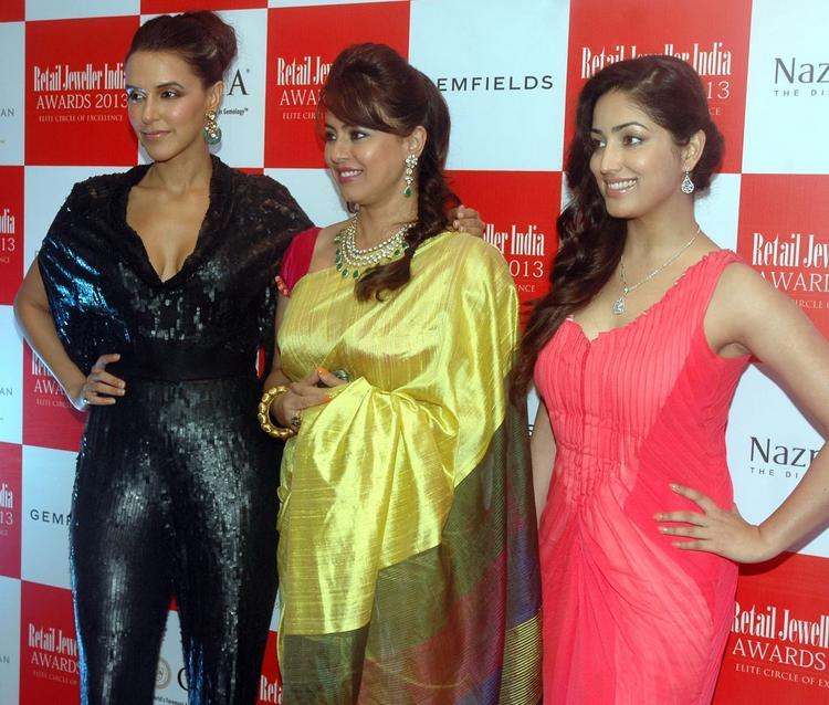 Neha,Mahima And Yami At The Grand Jury Meet For 9th Retail Jeweller India Awards 2013