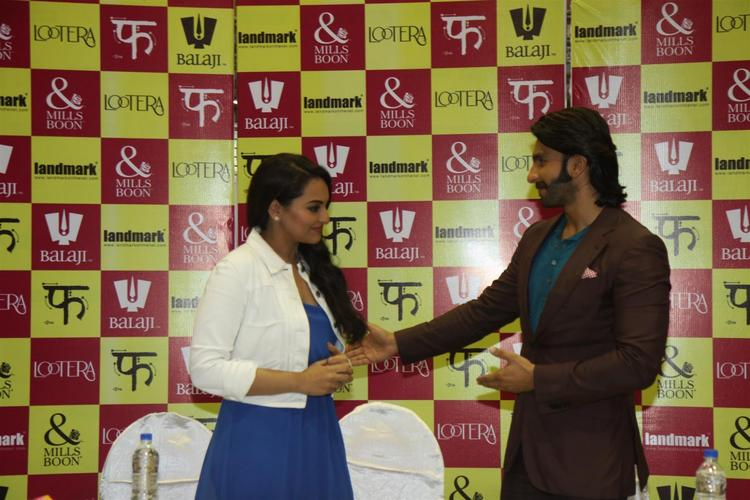 Sonakshi And Ranveer Attend The Launch Of Mills And Boon For Film Lootera