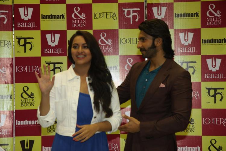 Sonakshi And Ranveer Cool At The Launch Of Mills And Boon For Film Lootera