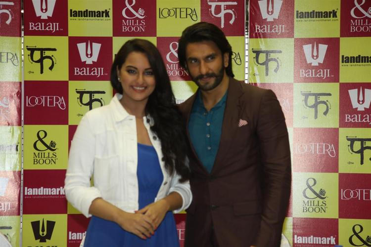 Sonakshi And Ranveer Graced At The Launch Of Mills And Boon For Film Lootera