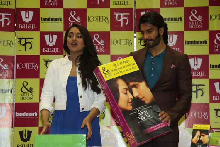 Sonakshi And Ranveer At The Launch Of Mills And Boon For Film Lootera
