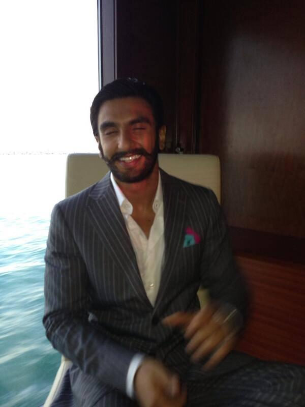 Ranveer Singh Smiling Look During The Promotion Of Lootera In Dubai At A Press Conference