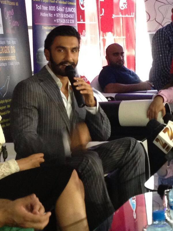 Ranveer Singh Speaking During The Promotion Of Lootera In Dubai At A Press Conference