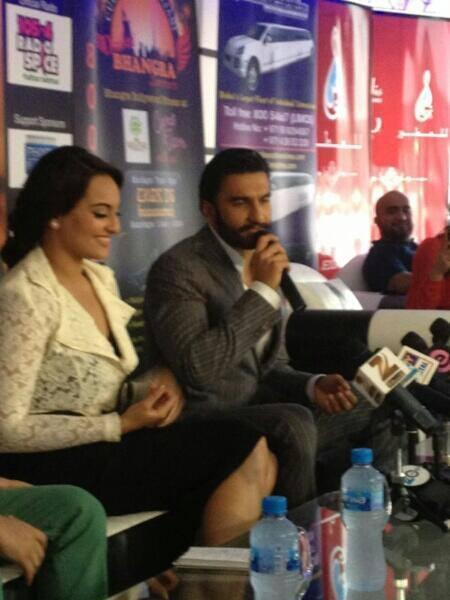 Sonakshi And Ranveer Promote Lootera In Dubai At A Press Conference