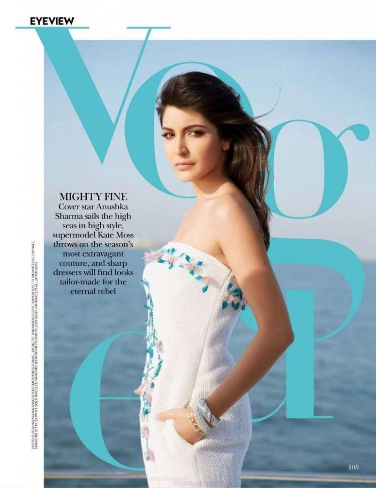 Anushka Sharma Sizzles on Cover Page of Vogue India Magazine July 2013