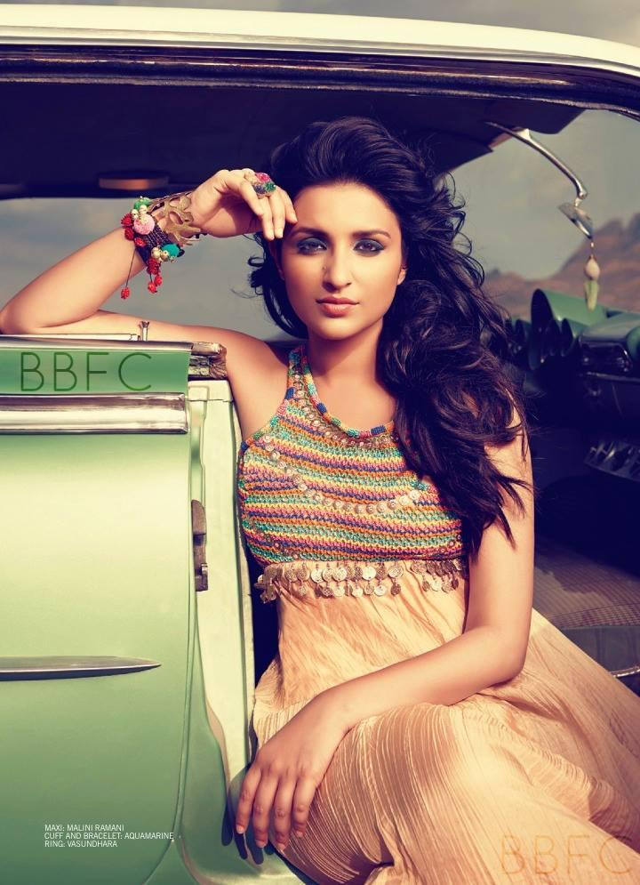Parineeti Chopra Charming Face Look Hot Photo Shoot For Filmfare July 2013 Issue