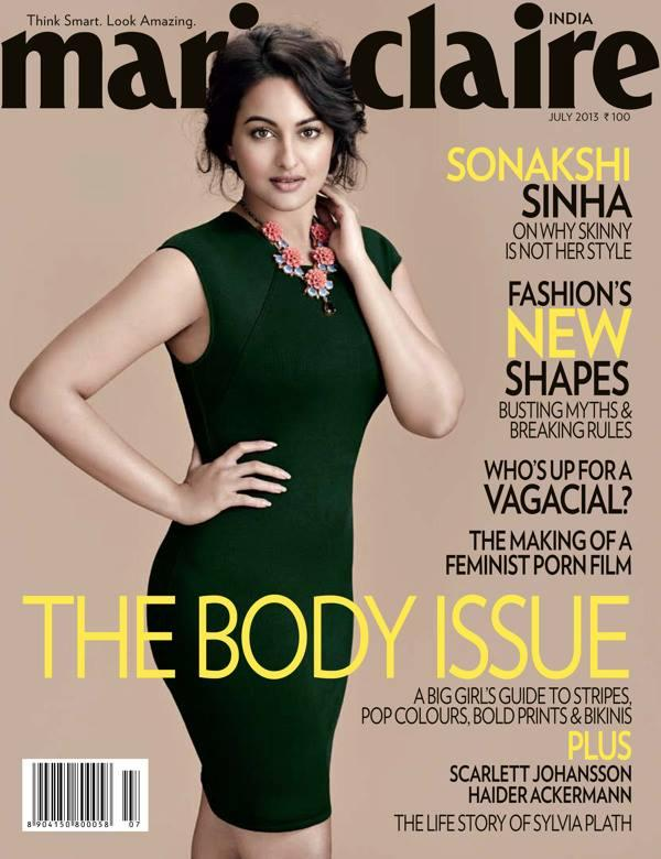 Sonakshi Sinha Looks Stunning On Marie Claire Magazine July 2013 Cover