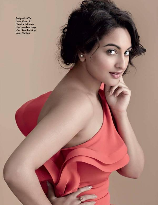 Sonakshi Sinha Milky Arms Show Sexy For Marie Claire Magazine July 2013