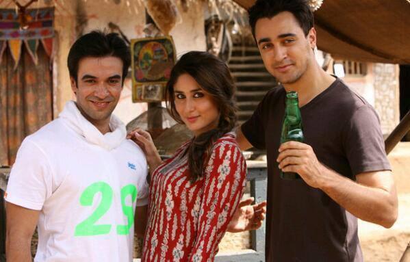 Kareena And Imran On The Sets Of Gori Tere Pyaar Mein