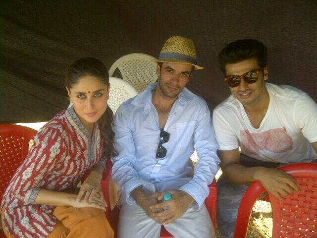 Kareena Hot Look Pic On The Sets Of Gori Tere Pyaar Mein