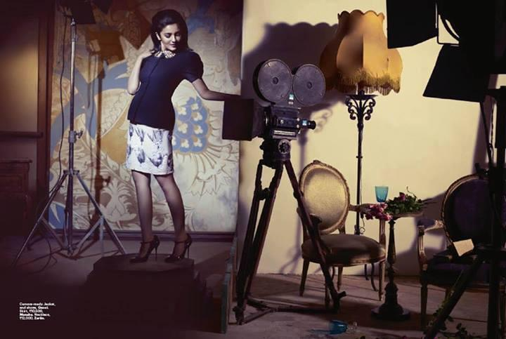Alia Bhatt On The Cover Of Harper's Bazaar India 2013