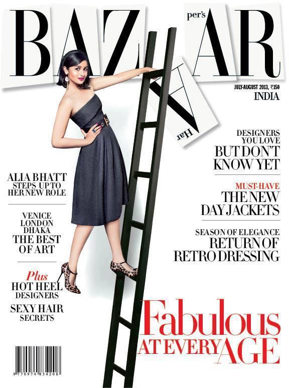 Alia Bhatt Poses On Harper's Bazaar July 2013 Cover In Gucci