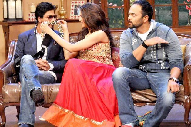 SRK,Deepika And Rohit Funny Moments On The Sets Of Comedy Nights With Kapil