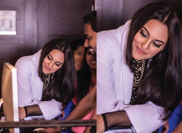 Sonakshi Sinha During The Shooting For Filmfare July Magazine
