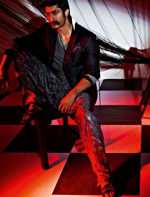 Vidyut Jamwal Nice Pose Photo Shoot For GQ India Magazine July 2013