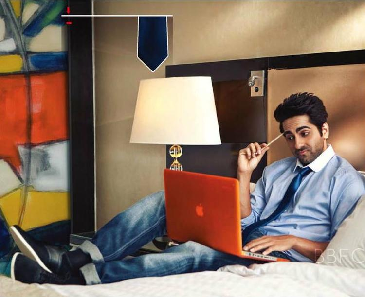 Ayushmann Khurrana With Lapy For Men's Health July 2013