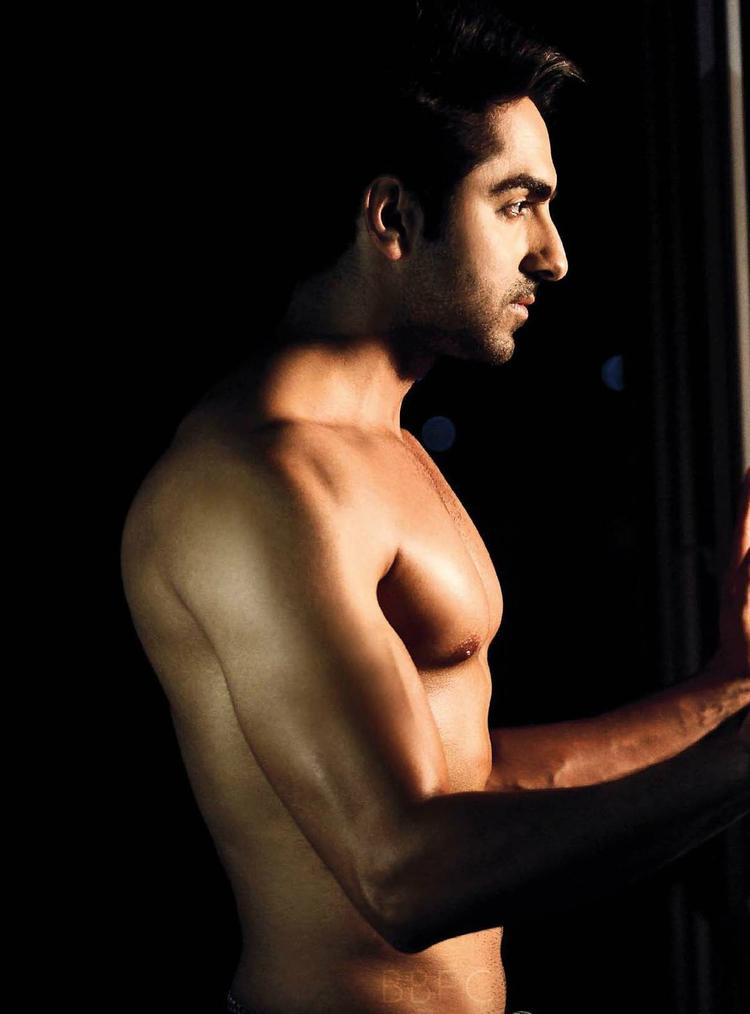 Ayushmann Khurrana Shirtless Pic For Men's Health July 2013