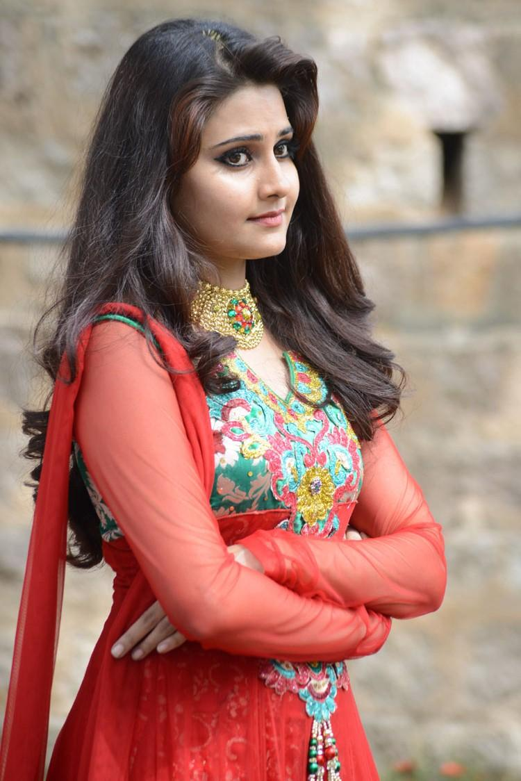 Mano Chitram Beauty Stunning Pic In Red Anarkali
