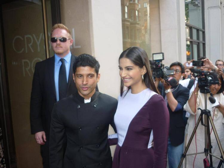 Sonam And Farhan Spotted At London For BMB Promotion