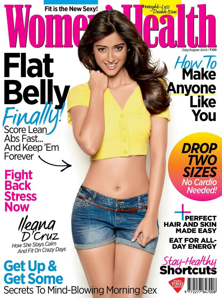 Ileana D'Cruz On The Cover Of Women's Health Magazine 2013