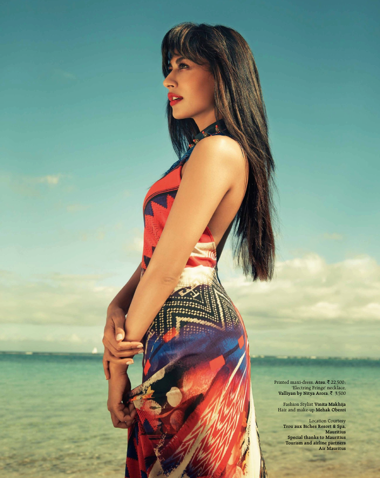 Chitrangada Singh On The Cover Of Grazia July 2013 Issue Sea Beach Still
