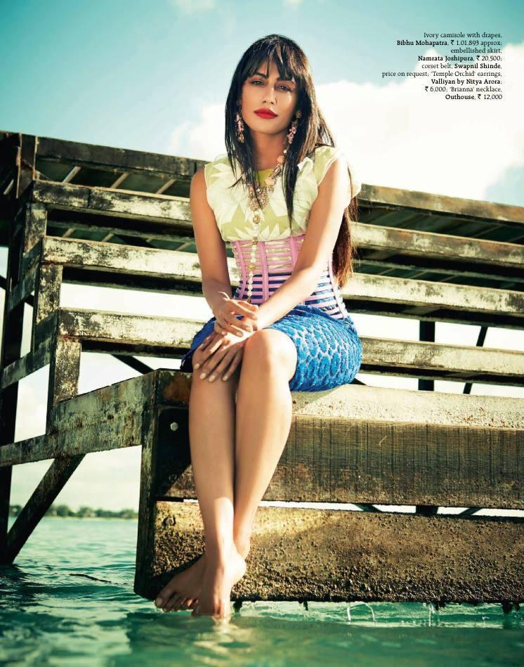 Chitrangada Singh Mini Shirt Sea Beach Hot Photo