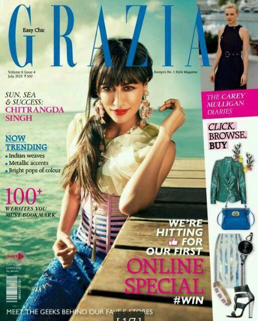 Pretty Chitrangada Singh On The Cover Of Grazia Magazine 2013