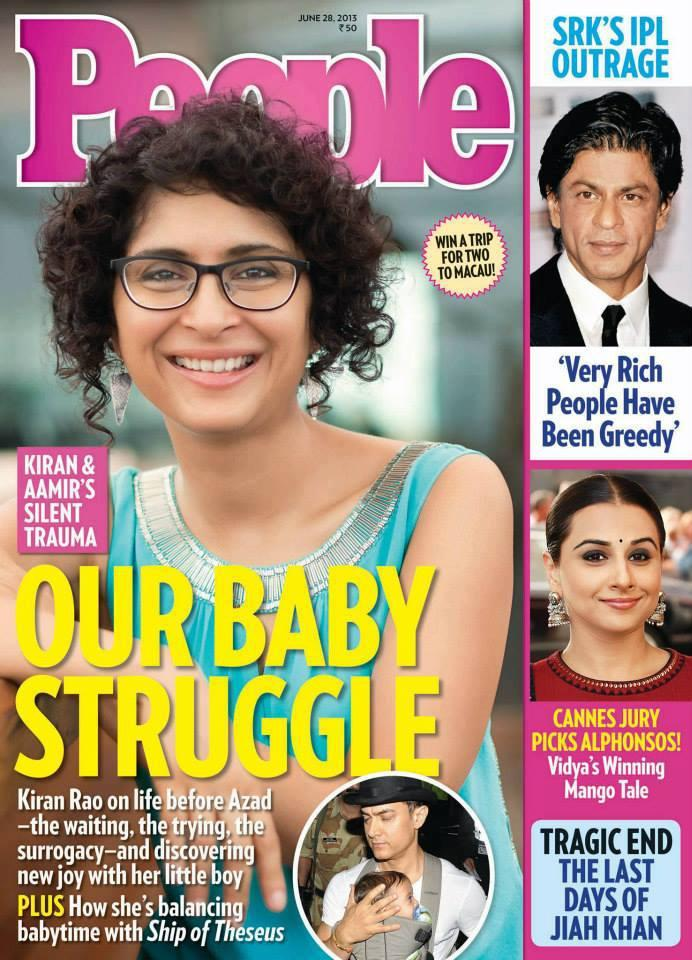 Kiran Rao On The Cover Of People Magazine India July 2013
