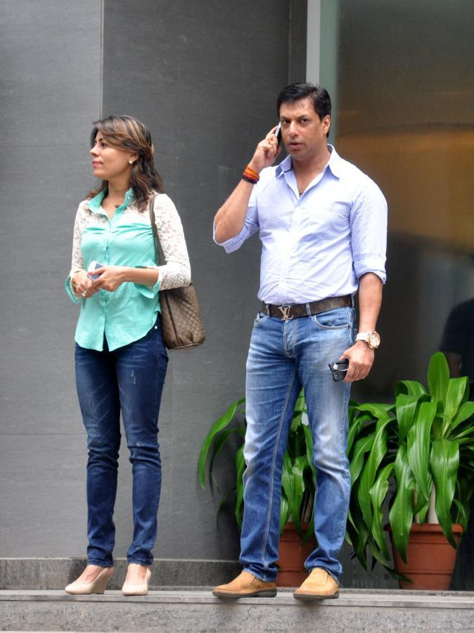Madhur And Renu Spotted At Hinduja Hospital