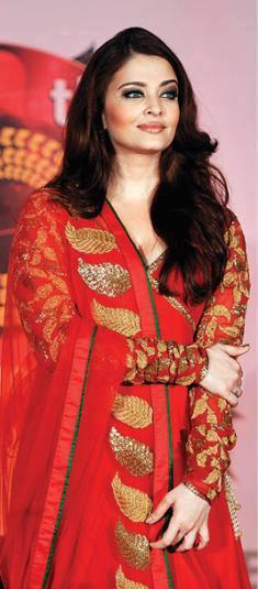 Aish Wore A Sleevefull Red Dress At Kalyan Jewellers 50th Showroom Launch Event