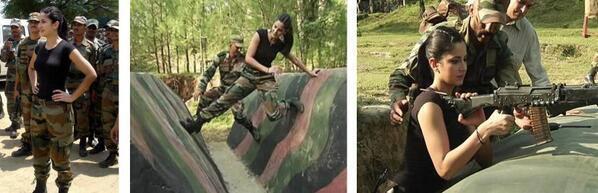 Katrina Visiting The Army Jawans At Naushera 106 Kms From Jammu