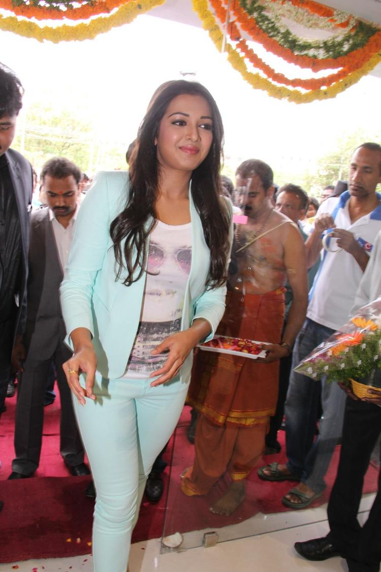 Catherine Tresa Arrives To Attend The Big C Mobile Showroom Launch Event