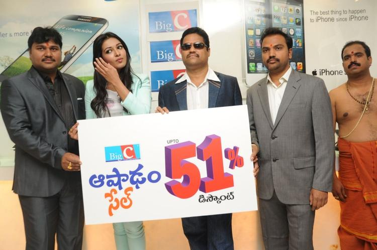 Catherine Tresa Inaugurates Big C Mobile Showroom At Hyderabad