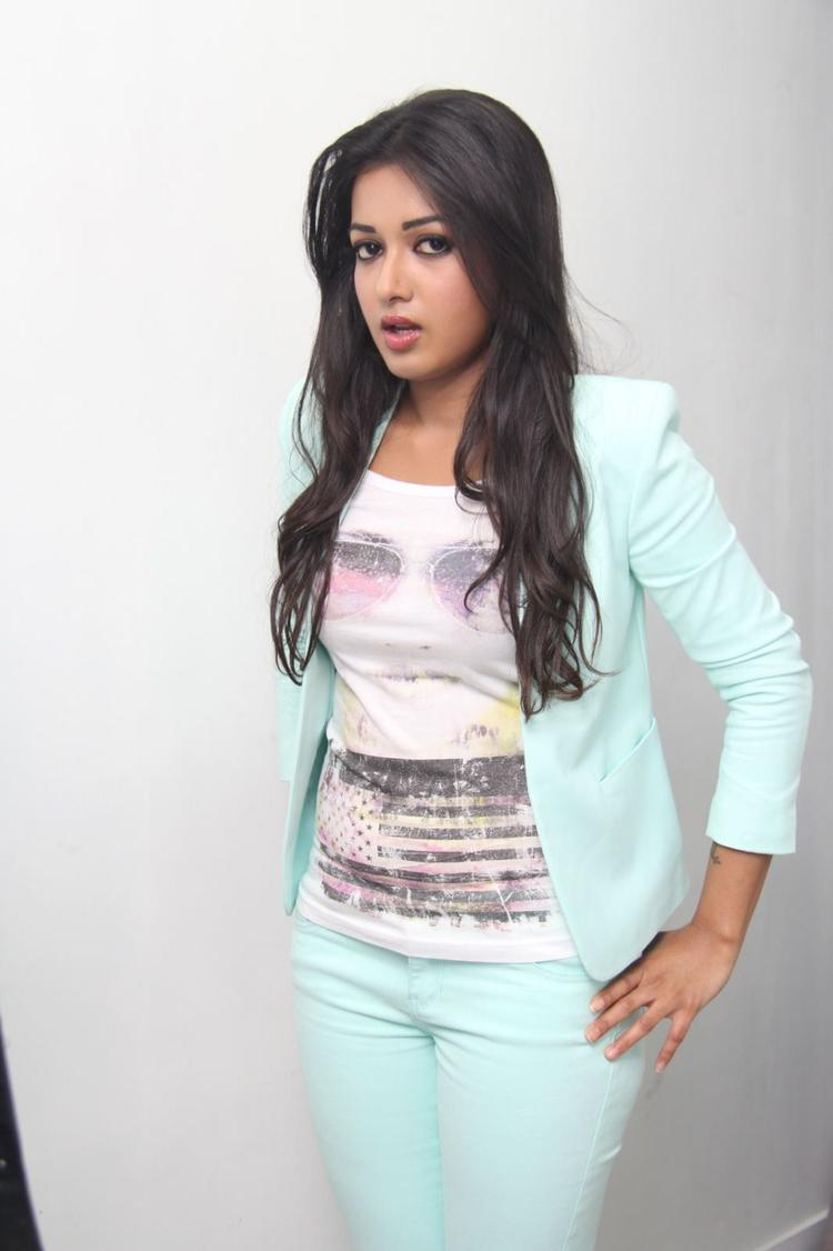 Catherine Tresa Strikes A Pose At Big C Mobile Showroom Launch Event