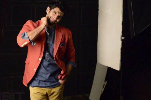 Aditya Roy Kapur Posed For Camera On The Sets Of Exhibit Magazine July 2013