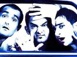Akshaye,Aamir And Saif Cool Posed Still From Dil Chahta Hai Movie
