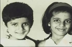 Farhan Akhtar With Twin Sister Zoya Akhtar Smiling Photo