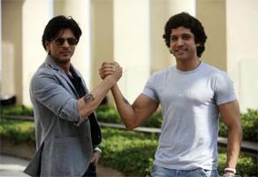 SRK And Farhan Nice Cool Posed Photo Still